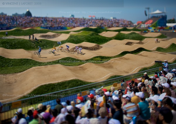 Here is another tilt-shift shot shot from a side angle. Photograph by Vincent Laforet for NEWSWEEK