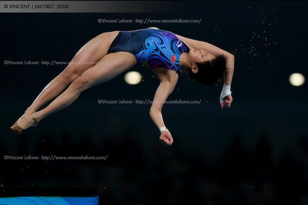 Ruolin Chen of China won the gold medal in the women's 10M platform diving competition. Photo by Vincent Laforet for NEWSWEEK