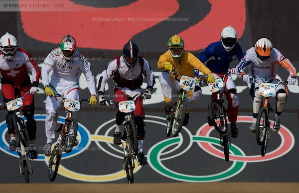 Here is the stock shot that has the rings in the back - a photo that clearly places this sport at an Olympic venue. Photograph by Vincent Laforet for NEWSWEEK