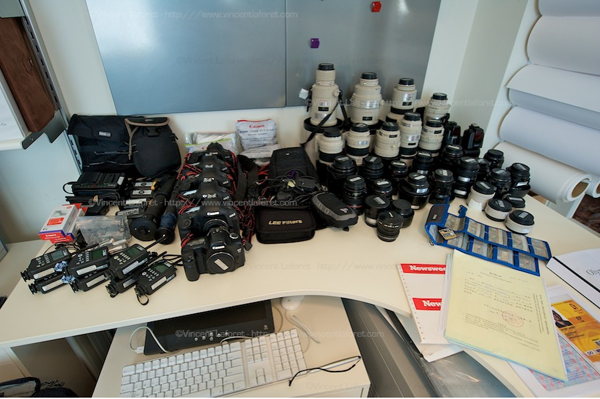 This is the gear I had to choose from. ©Vincent Laforet