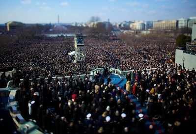 January 20th, 2009 - Barack Obama is sworn is as the 44th President of the United States on the steps of Capitol Hill.   Photo by Vincent Laforet